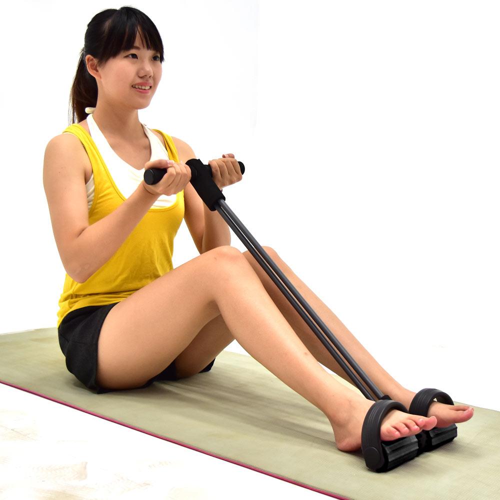 加長版腳踏拉繩拉力器