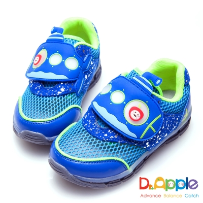 Dr. Apple 機能童鞋 蘋果潛水艇海底冒險發光童鞋-藍