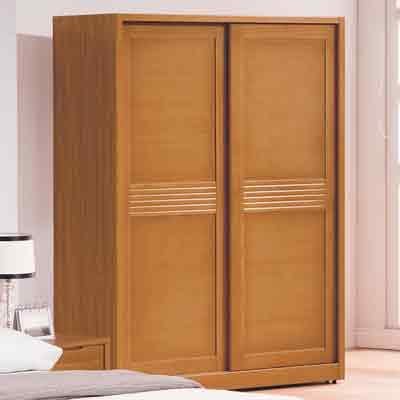 時尚屋 米堤柚木色5尺衣櫃 寬144.8x深60.5x高197cm