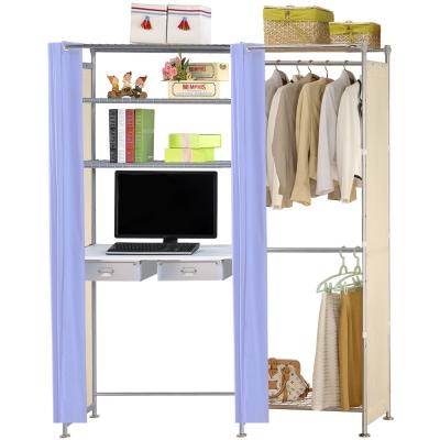 巴塞隆納-W2型60公分+E90公分電腦桌衣櫥架