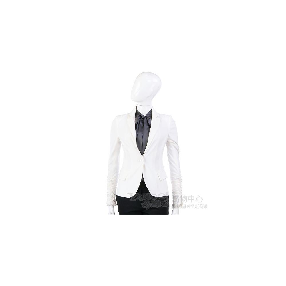 PAOLA FRAN 白色單釦款西裝外套