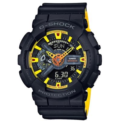 G-SHOCK 潮流再現 澄黃搶眼配色設計休閒運動概念錶(GA-110BY-1)51mm