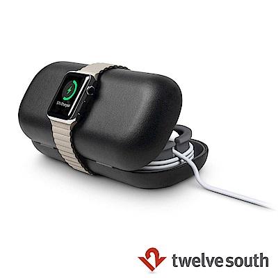 Twelve South Apple Watch 專用旅行真皮收納盒-黑色