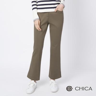 CHICA 率性況味側開岔微喇叭長褲(3色)