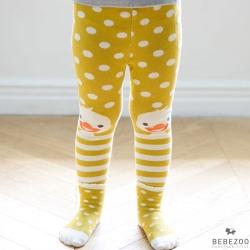 BEBEZOO 韓國 點點鴨子款彈性內搭褲襪子兩件組