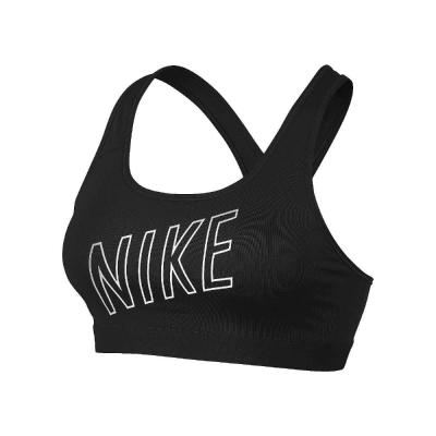 NIKE 運動內衣 緊身運動內衣 黑底白字