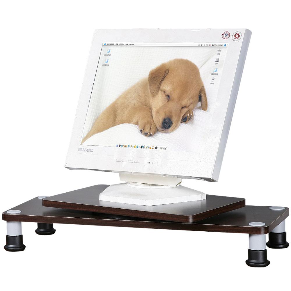★限量出清★Homelike 360°旋轉式桌上螢幕架-胡桃色