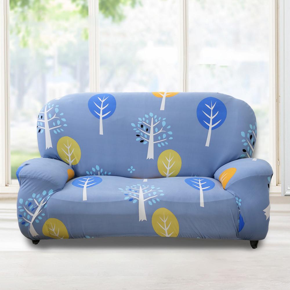 歐卓拉 小樹森林彈性沙發套3人座