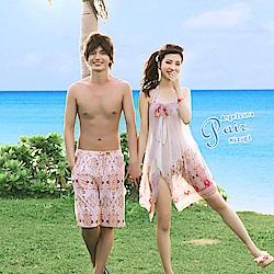【AngelLuna日本泳裝】圖騰風男款泳褲/海灘褲