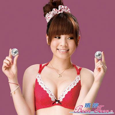 嬪婷-深V小甜心B-C罩杯內衣-聖誕紅