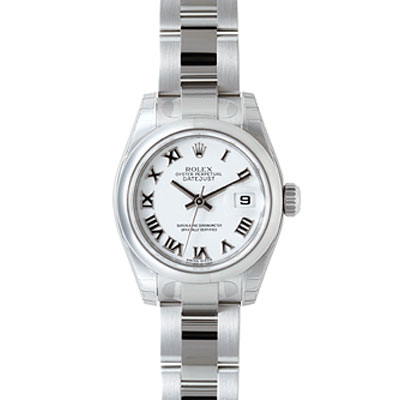 ROLEX 勞力士 Datejust 179160 蠔式恆動日誌型女錶 -白x羅馬字/26mm