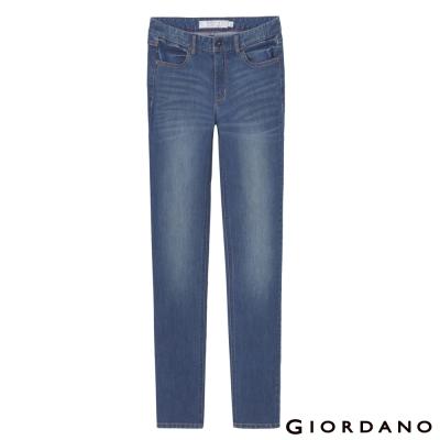 GIORDANO-女裝中腰修身窄腳牛仔褲-58淺藍