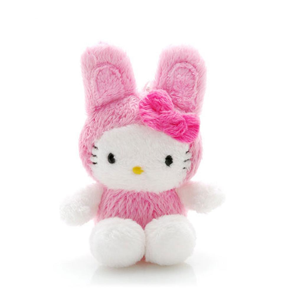 HELLO KITTY絨毛兔吊飾防塵塞
