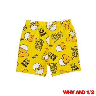 WHY AND 1/2 蛋黃普普熊家居褲 黃色2Y~10Y