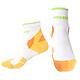 LEADER COOLMAX 女款 透氣中筒 戶外健行 機能運動襪 橙色 product thumbnail 1