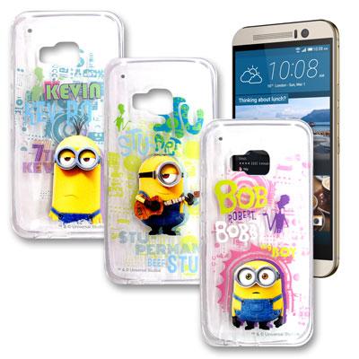 黃色小小兵正版 HTC One M9 透明手機軟殼(人物篇)
