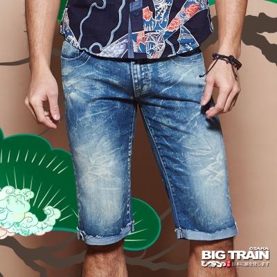 BIG TRAIN COOLMAX重水洗短褲-男-中藍