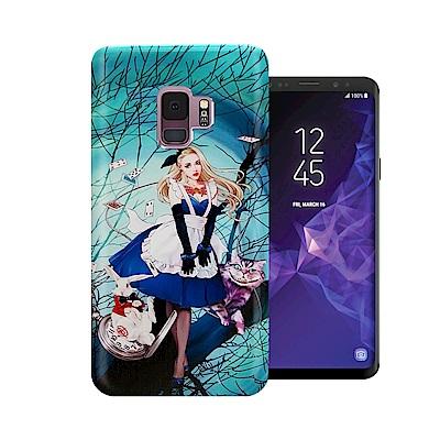 張小白 Samsung Galaxy S9 古典奇幻插畫 滿版空壓保護殼(愛莉絲...