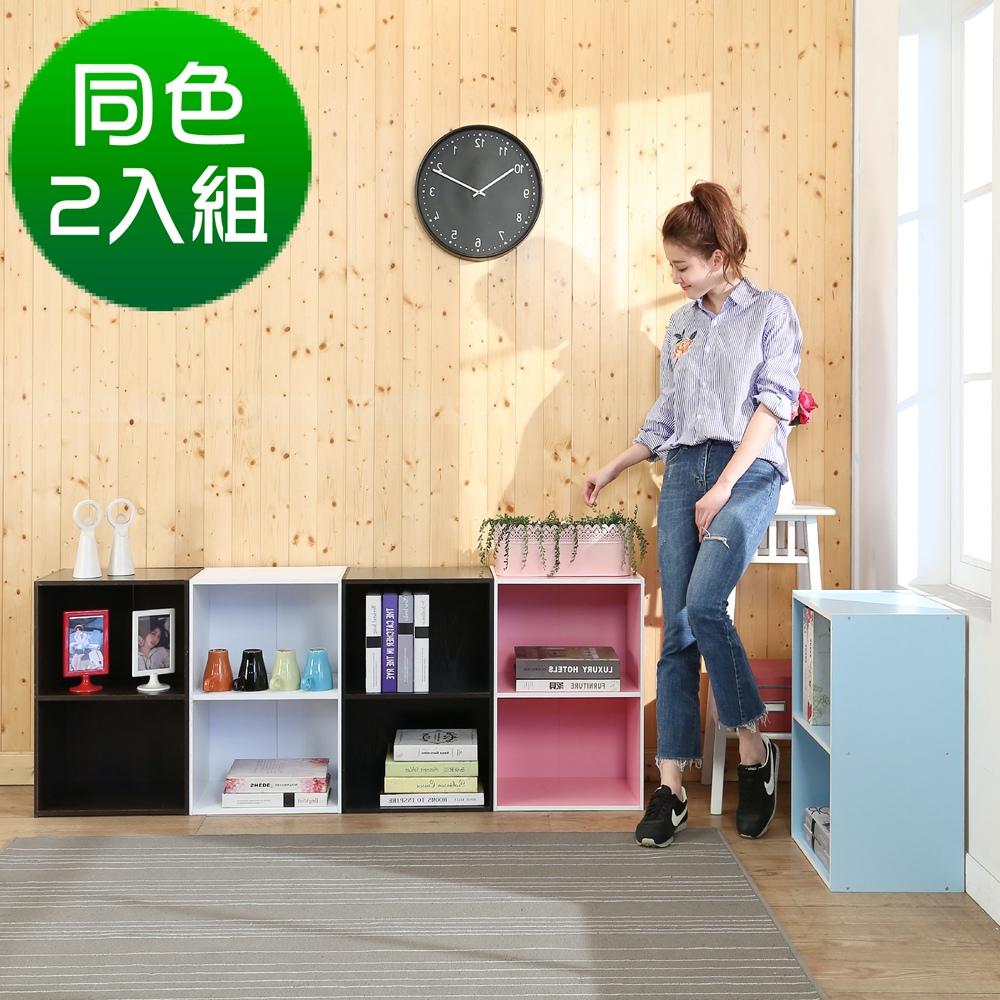 BuyJM多彩二格書櫃/收納櫃(同色2入組)41x30.5x60公分-DIY