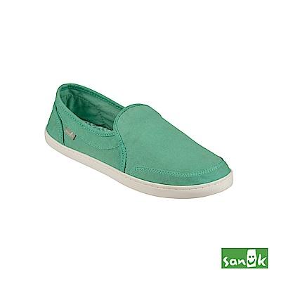 SANUK 復古水洗帆布休閒鞋-女款(綠色)