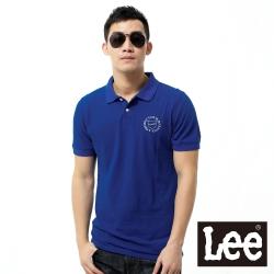 Lee 短袖POLO衫-男款- 淺藍色