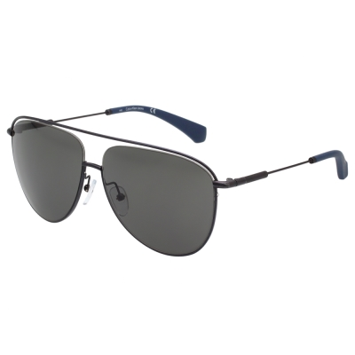 Calvin Klein Jeans-造型雷朋 太陽眼鏡(灰黑色)CKJ154SAF