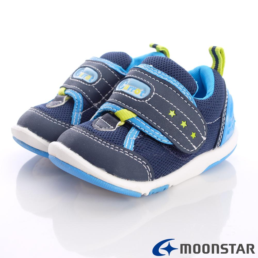 日本Carrot 御用機能鞋~連動帶設計款-B335藍(寶寶段)