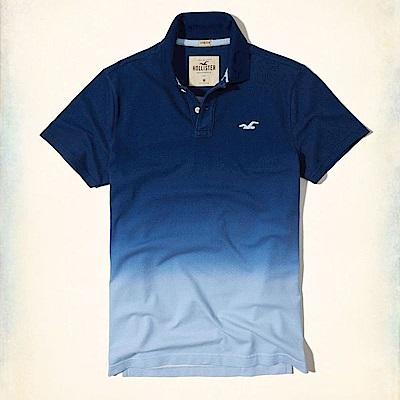 Hollister HCO  短袖 polo 藍色 0638