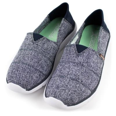 XCESS-女休閒鞋GW052NVY-格紋藍