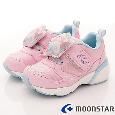 日本Carrot機能童鞋-冰雪奇緣聯名電燈款12034粉(中小童段)T#14cm