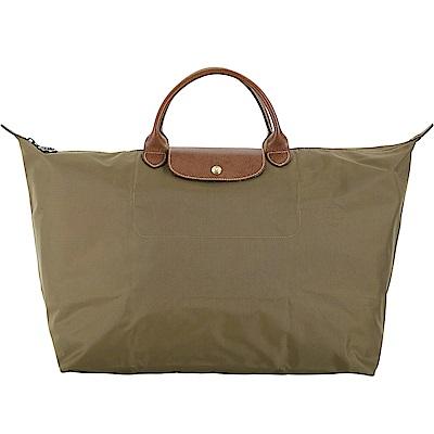 LONGCHAMP LE PLIAGE 摺疊尼龍旅行袋(L/橄欖綠)