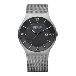 BERING丹麥精品手錶 日期顯示太陽能米蘭帶系列 灰色40mm