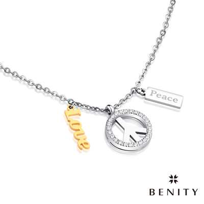 BENITY 烏托邦之歌 316白鋼/西德鋼 IP黃K金 女項鍊