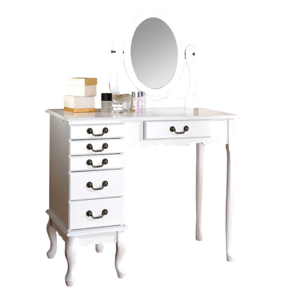英式古典 化妝珠寶桌-白色