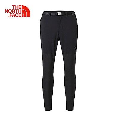 The North Face北面男款黑色輕便透氣休閒長褲
