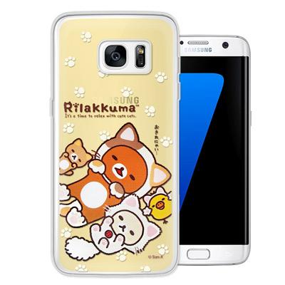 日本授權正版拉拉熊 Samsung Galaxy S7 edge 變裝彩繪手機殼...
