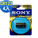 SONY CR123A CR-123 一次性鋰電池 3V 公司貨 (4入)