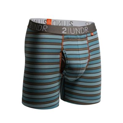 2UNDR Swing Shift 莫代爾吸排內褲(6吋)-藍橘條紋