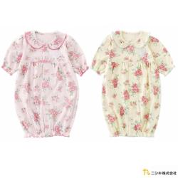 Nishiki 日本株式會社 玫瑰花荷葉邊領片連身衣包屁衣