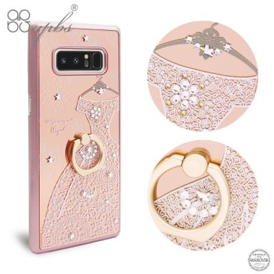 apbs Samsung Note8  鏡面指環扣水晶保護殼-禮服