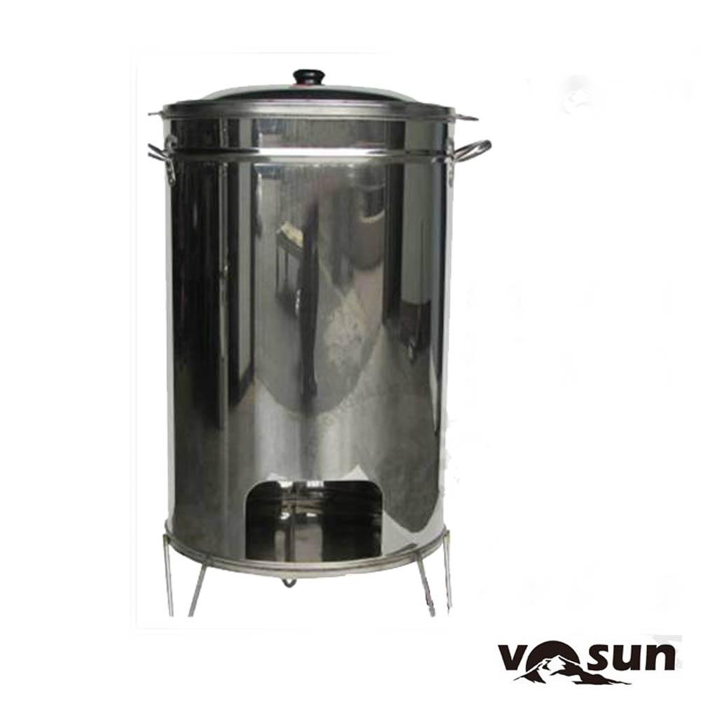 【Farber】台灣製 專利加大加深 #304 食品級不鏽鋼 桶仔雞爐