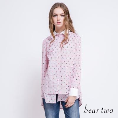beartwo-滿版可愛小人圖案造型襯衫-共二色