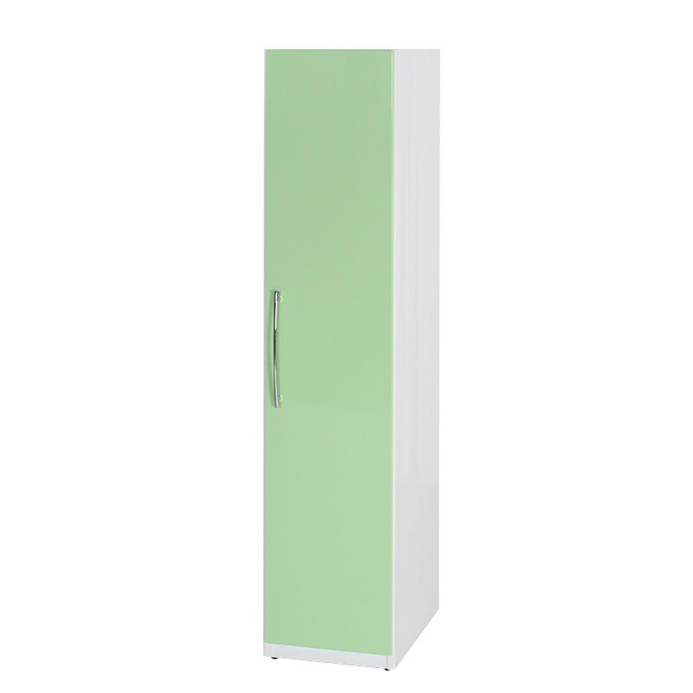 Bernice-防潮防蛀 塑鋼1.4尺單吊衣櫃(十一色)-42x63x198cm