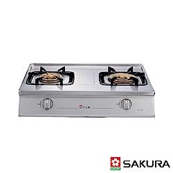 SAKURA櫻花牌 三環大火不鏽鋼傳統式二口瓦斯爐G-5610K