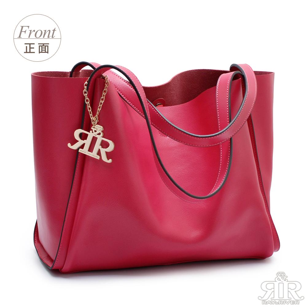 【2R】芬芳牛皮Paris慵懶巴黎包(甜莓紅)