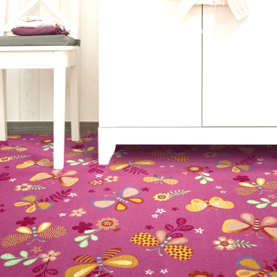 范登伯格 - 朝暘 進口地毯-花之舞 - 紅 (大款-150 x 200cm)