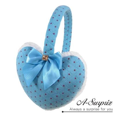 A-Surpriz 浪漫心漾蝴蝶結耳罩(藍)