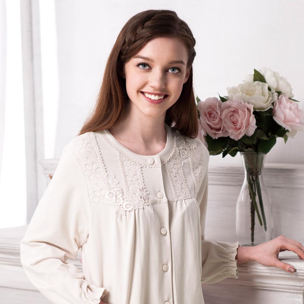 羅絲美睡衣-古典迷情浪漫長袖褲裝睡衣 (白色)