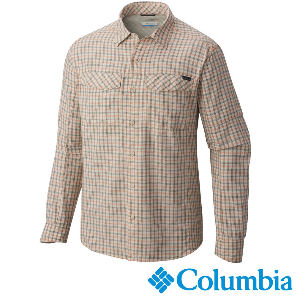 【Columbia哥倫比亞】男-快排防曬30長袖襯衫-卡其 UAE74410KI