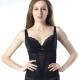 思薇爾 綺麗曲線系列腰夾中機能蕾絲款-黑色 product thumbnail 1